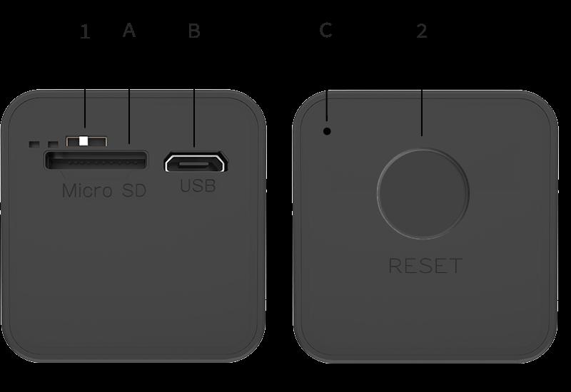 Talo Smart Security Camera buttons