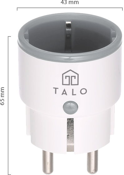 Talo Smart Plug Size